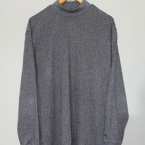 Men's Nike Golf DRIFIT Tiger Woods Knit Gray Style Mock Turtleneck Size XL